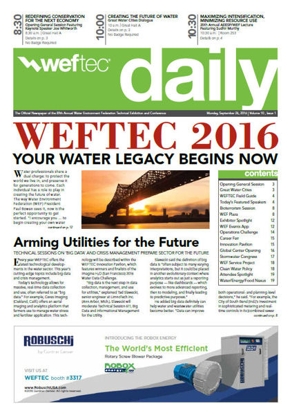 WEFTEC Daily, Monday 9-26