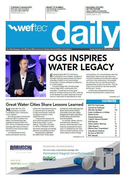 WEFTEC Daily, Tuesday 9-27