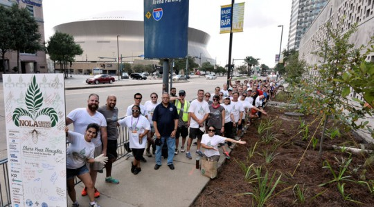Volunteers helped build a rain garden and bioswale during the ninth annual Water Environment Federation (WEF; Alexandria, Va.) Community Service Project. Photo courtesy of Oscar and Associates.