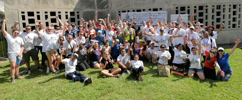 Approximately 100 volunteers helped construct new green space in New Orleans during WEFTEC 2016. Photo courtesy of Oscar and Associates.