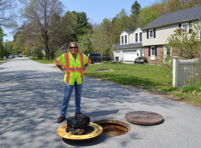 Laurie Perkins, senior project manager for Wright-Pierce, (Topsham, Maine), focuses on managing wastewater and stormwater collection systems. Photo courtesy of Perkins, Wright-Pierce.