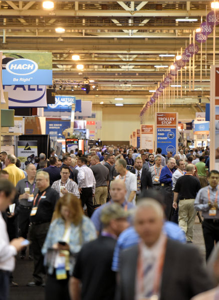 WEFTEC 2016 drew 20,113 registrants and 1006 exhibitors, which put the event on the list of the top five largest and best-attended in the conference's 89-year history. Photo courtesy of Oscar & Associates.