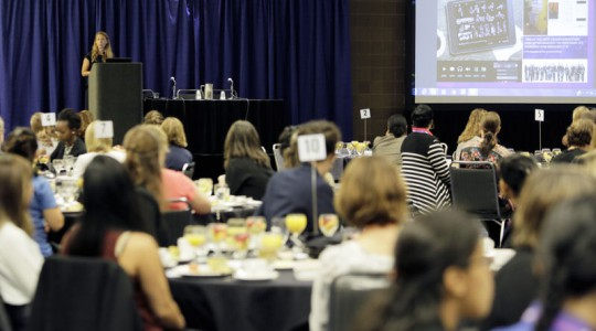 Keynote speaker Kristen McIntyre shared tips for tapping into creativity to foster innovative and successful. Photo courtesy of Oscar & Associates.