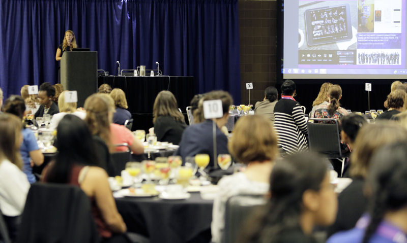 Keynote speaker Kristen McIntyre shared tips for tapping into creativity to foster innovative and success. Photo courtesy of Oscar & Associates.