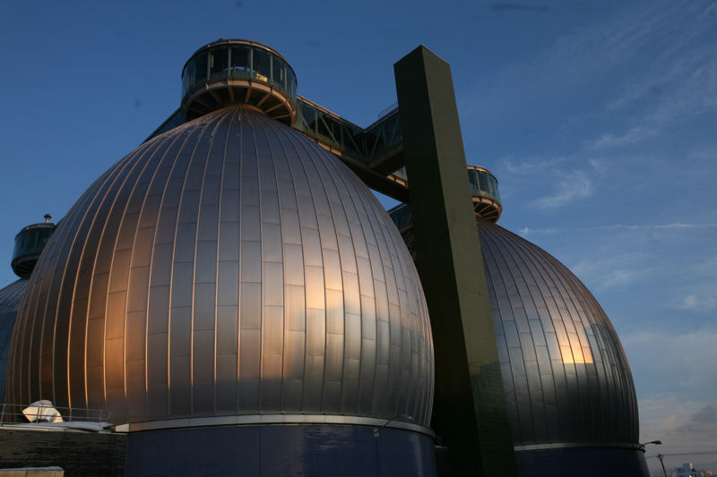 On Feb. 6, DEP will host early Valentine's Day tours of the Newtown Creek Wastewater Treatment Plant. The oversized digester eggs remain a popular attraction during these tours. Photo courtesy of the New York City DEP.