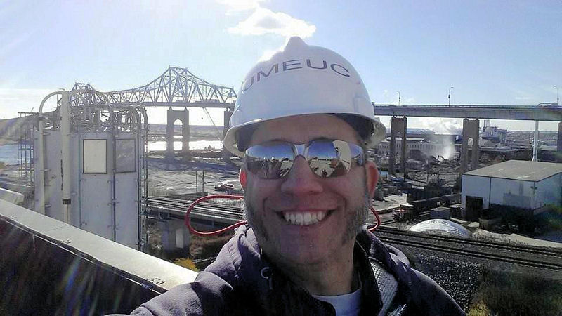 Fran Bonaccorso, superintendent at the Joint Meeting of Essex & Union Counties' (Elizabeth, N.J.) water resource recovery (WRRF), stands on the roof of the WRRF's biosolids facility in Elizabeth, N.J. Photo courtesy of Fran and Joe Bonaccorso.