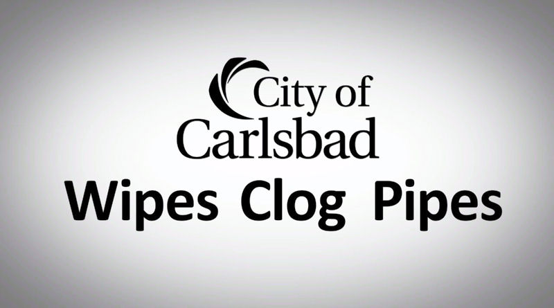 The City of Carlsbad, Calif., educates the community about the problems wipes can cause for wastewater infrastructure through a Wipes Clog Pipes video series. Photo courtesy of the City of Carlsbad.
