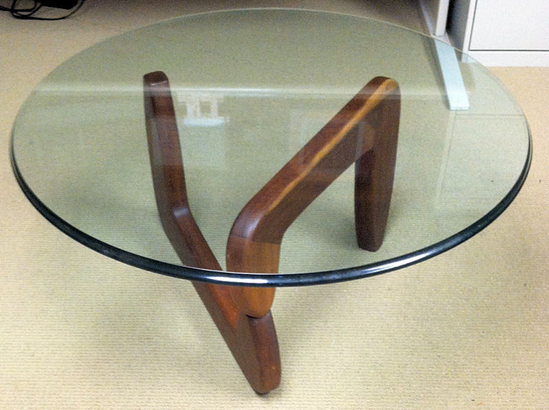 This wood and glass table was one of Lagnese's earliest pieces, built as furnishing for his home. Photo courtesy of Lagnese.