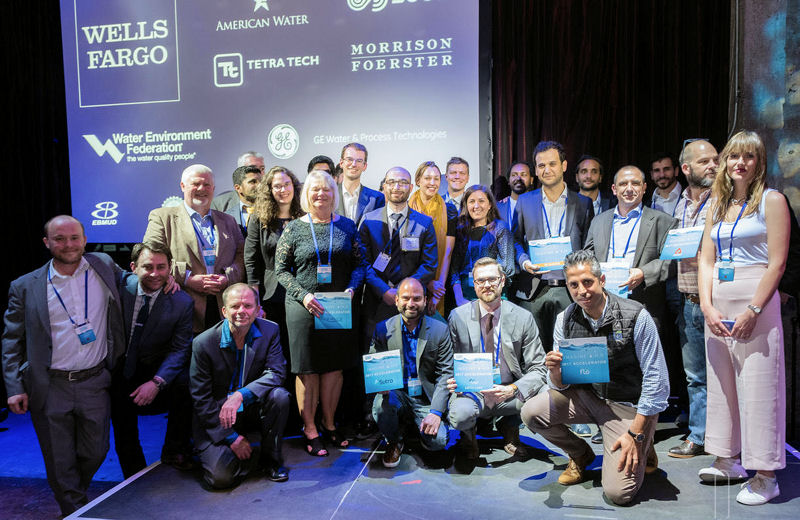 Twelve finalists were selected for Imagine H2O's (San Francisco) 8th Annual Water Data Challenge and were honored at this year's WaterGala. From the finalists Utilis (Rosh Haayin, Israel) was chosen as the winner. Photo courtesy of Imagine H2O (San Francisco).