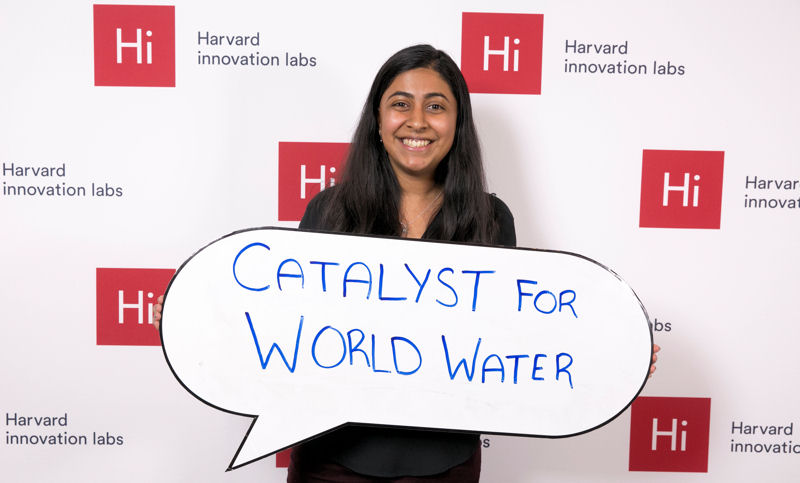 Deepika Kurup currently is a sophomore at Harvard University (Cambridge, Mass.) and her startup company, Catalyst for World Water, is part of the school's Innovation Lab Venture Incubator Program. Photo courtesy of Kurup.