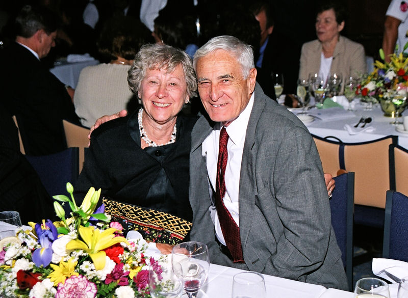 Nick Bartilucci and his wife Joan take a picture together during a cruise in 2005. Photo courtesy of Ken Skibinski, New York Water Environment Association (NYWEA) past president.