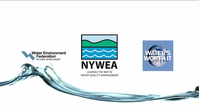 The NYWEA public awareness video helps members educate citizens about the value of water and need to maintain infrastructure. Photo courtesy of NYWEA.
