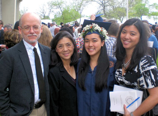 Bri (third from left) was joined by, from left, Frey, June, and Iris Shiroma, during her graduation from Syracuse University in civil engineering in 2011. Photo courtesy of Bri Nakamura.