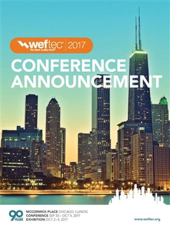 WEFTEC 2017 Conference Announcement