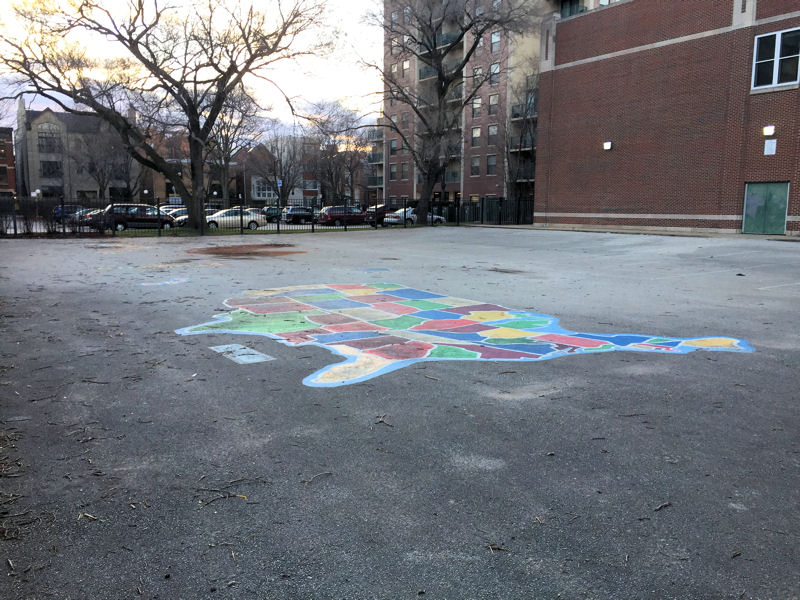 During WEFTEC 2017, service project volunteers will help install a green classroom and bioswales in this playground area at the Manierre Elementary School (Chicago). Photo courtesy of Nick Woboril, Nature's Perspective (Evanston, Ill.).