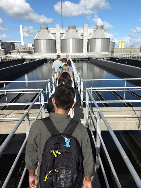 Program participants exploring the water theme had the opportunity to tour a wastewater treatment facility in Denmark. Photo courtesy of Falconer.