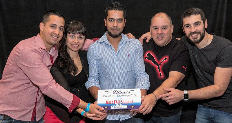 AySA Demonios, Asociación Interamericana de Ingeniería Sanitaria y Ambiental (São Paulo, Brazil), won the spirit award for best fan support. Photo courtesy of Kieffer Photography.