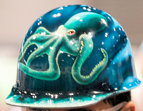 Team HRSD's hard hat won for best design. Photo courtesy of Kieffer Photography.