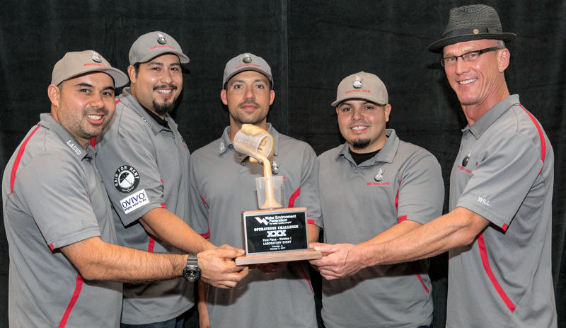 L.A. Wrecking Crew, California WEA, placed first in the Laboratory Event in Division 1. Photo courtesy of Kieffer Photography.