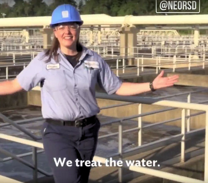 "Christen Wood, unit process manager for the Northeast Ohio Regional Sewer District (Cleveland), won the Water Environment Federation (WEF; Alexandria, Va.) Sound Off for Clean Water Song Contest with her song, ""We Treat the Water (Right)."" Photo courtesy of Northeast Ohio Regional Sewer District."