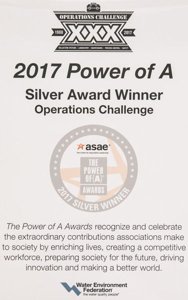 "Operations Challenge received a silver ""Power of A"" award from the American Society of Association Executives (Washington, D.C.). Photo courtesy of Kieffer Photography."