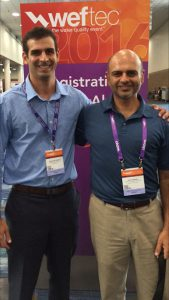 From left, Jonathan and his uncle Gopi attended WEFTEC 2016 in New Orleans together. Photo courtesy of Gopi Sandhu.
