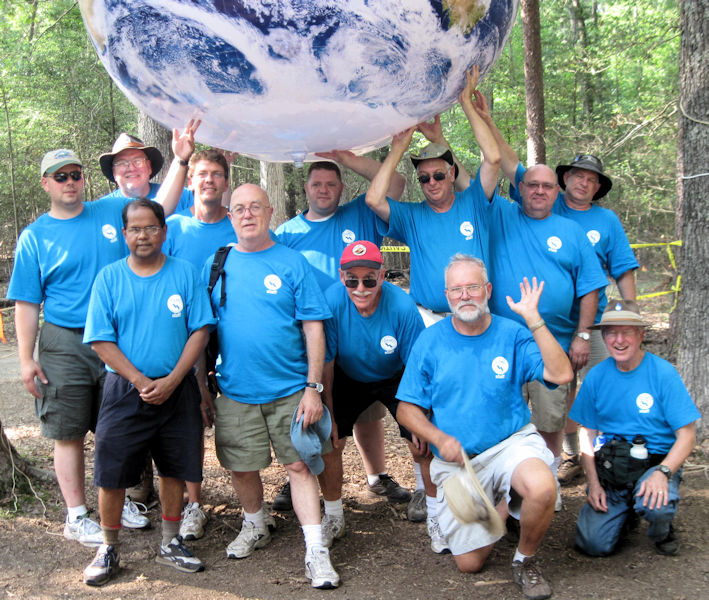 Condon (back row, third from right) stands with other WEF volunteers at the 2010 Boy Scout Jamboree. Photo courtesy of Kenneth Spear.