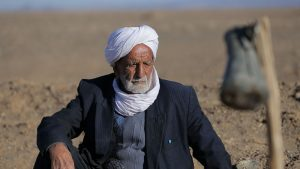 Gholamreza Nabipour, age 102, is one of the last remaining caretakers of qanats known as mirabs. Photo courtesy of Soheili.