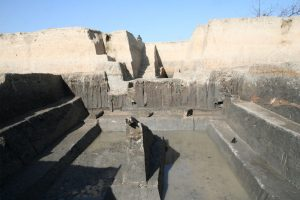 Researchers found a series of high and low dams, and levees built 5000 years ago in the ancient city of Liangzhu, making it one of the world's largest and oldest known hydraulic engineering systems. Photo courtesy of the Zhejiang Provincial Institute of Cultural Relics and Archaeology.