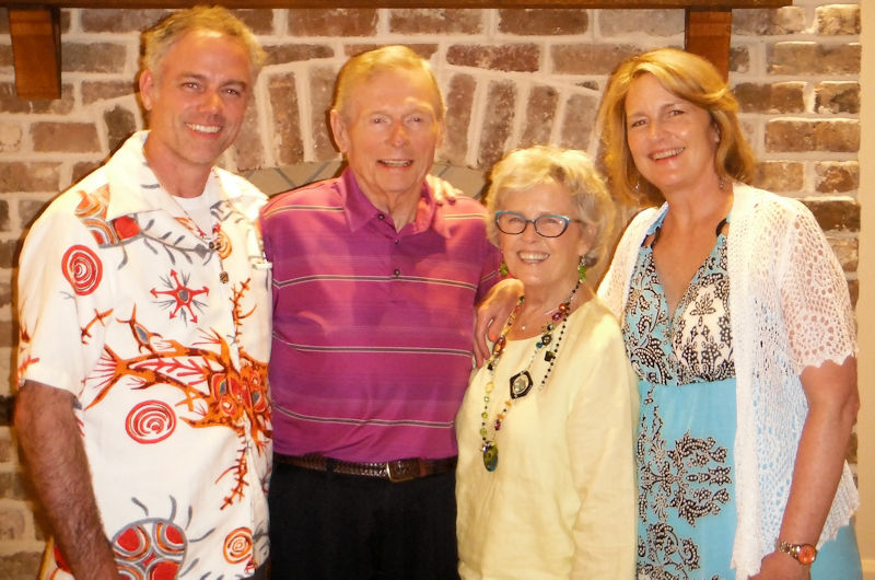 From left, Tom Guthrie Jr. stands with his father Tom Guthrie Sr., mother Janelle Guthrie, and sister Beth Moss. Tom Jr. joined the family business which is now known as Guthrie Sales & Services. Photo courtesy of the Guthrie family.