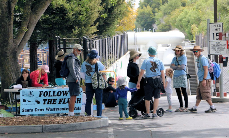Follow the Flush 5K participants had the opportunity to tour the City of Santa Cruz Wastewater Treatment Facility at the end of the walk. Photo courtesy of the City of Santa Cruz.