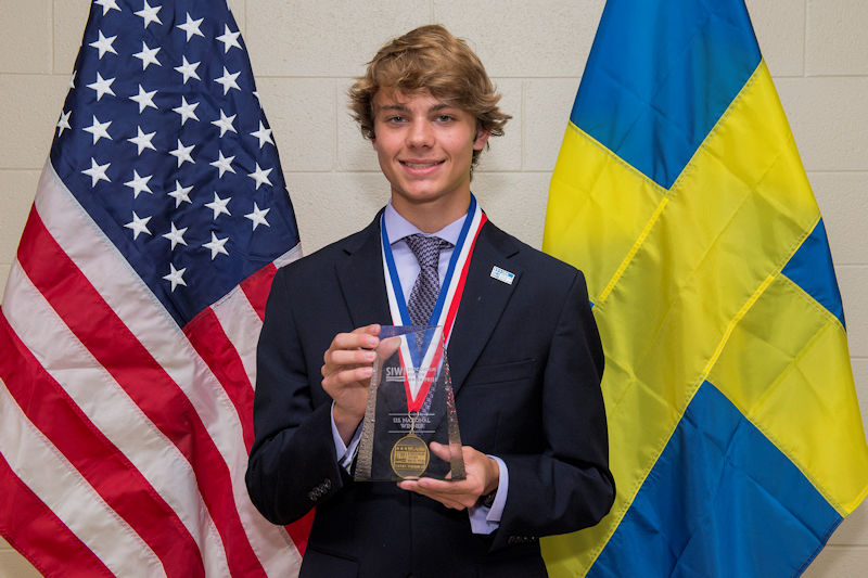 Braden Milford won the 2018 U.S. Stockholm Junior Water Prize (SJWP) competition for his research into using alginate beads to remove heavy metal contamination from water. Photo courtesy of AOB Photo.
