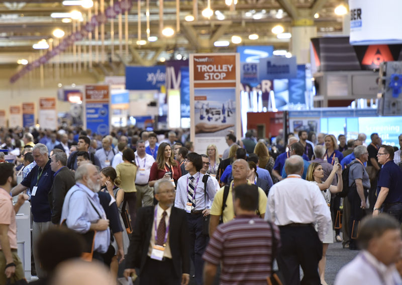 WEFTEC 2018 attendees will have access to the more than 1000 companies in the exhibition. Photo courtesy of Oscar & Associates.