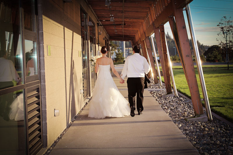 The Leadership in Energy and Environmental Design (LEED) Platinum-certified Brightwater Center is located next to a water resource recovery facility (WRRF) and has hosted about 30 weddings to date. Photo courtesy of A Moment's Reflection Photography (Clinton, Utah).