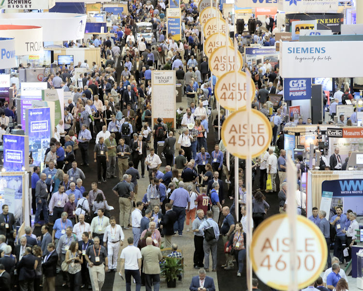 WEFTEC 2018 set records for the most registrants in New Orleans at 20,740 individuals. Photo courtesy of Oscar & Associates.