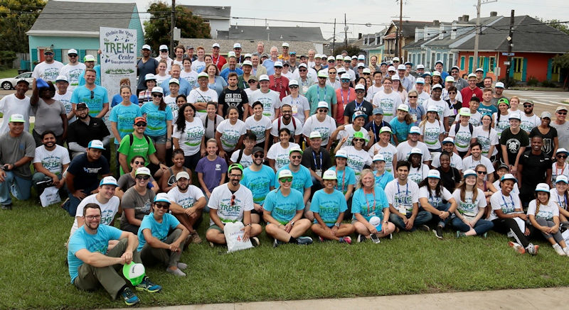 More than 175 volunteers helped leave a green imprint on New Orleans during WEFTEC 2018. Photo courtesy of Natalie Keene Photography.