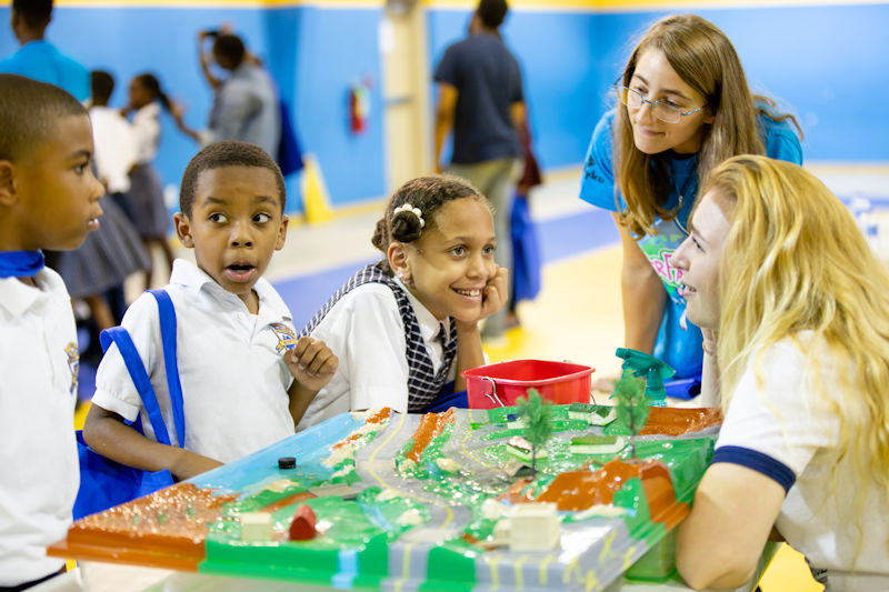 Students learn about stormwater runoff during the Water Palooza. Photo courtesy of Natalie Keene Photography.