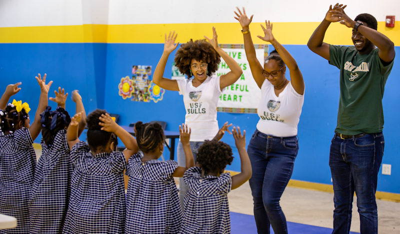Students dance and learn about the water cycle during the 2018 Water Palooza. Photo courtesy of Natalie Keene Photography.