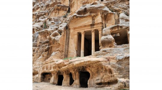 The Nabataeans designed a system of reservoirs to hold water. The inhabitants of Petra relied on this supply for themselves and their animals throughout the year. Photo courtesy of Mays, Arizona State University.