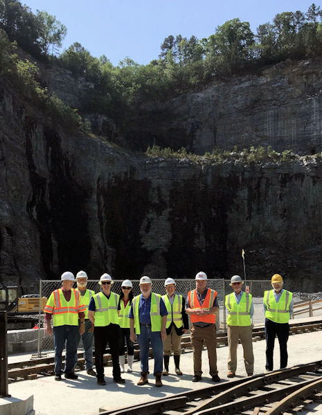 Gurus also participate in field trips to water-related sites around the state such as the Bellwood Quarry Tunneling Project in Atlanta. The tunnel will connect the quarry to the river and eventually help supply the city with a water supply in the future. Photo courtesy of the Georgia Association of Water Professionals.
