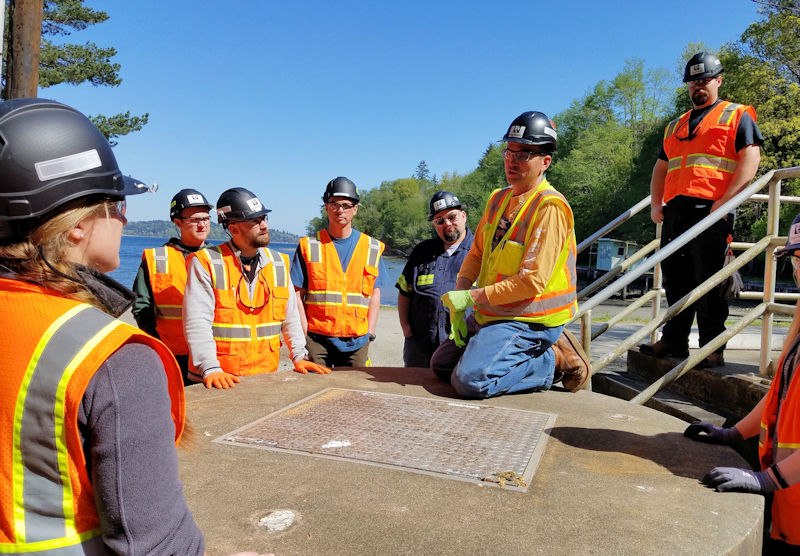 The King County (Wash.) Wastewater Treatment Division introduced an Operator in Training (OIT) program to recruit a new diverse workforce. Photo courtesy of the King County Wastewater Treatment Division.