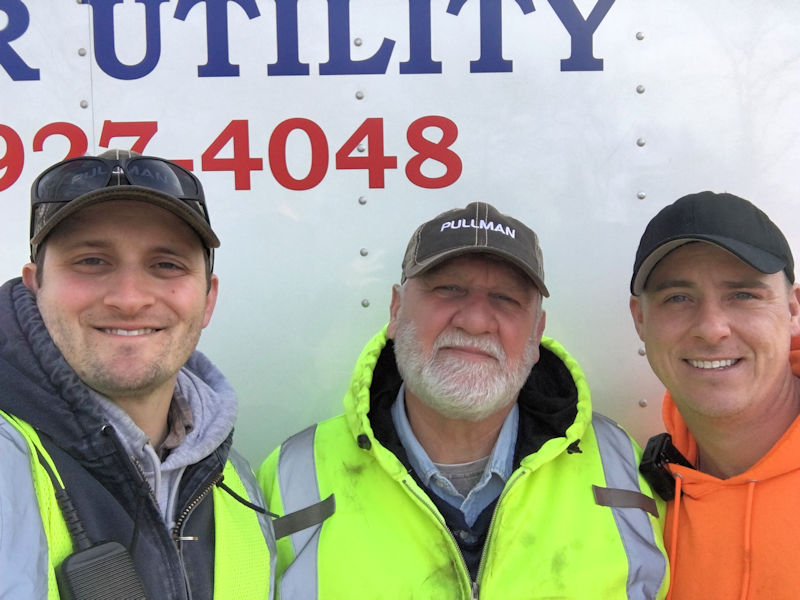 Gogol (center) stands with other members of his crew Steve Hornig and TJ Sweet. Together the crew inspects and maintains the collection systems for the City of Somers Point. Photo courtesy of Gogol.