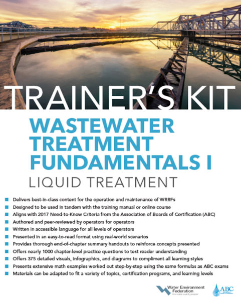 The Water Environment Federation (WEF; Alexandria, Va.) has introduced a series of operator training materials that includes a fundamentals trainer's kit.