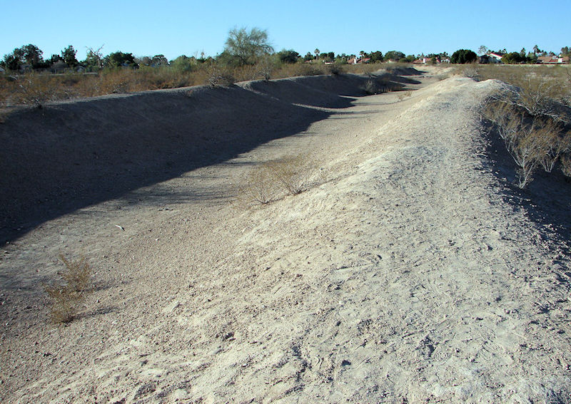 The ruins of the Ancient Hohokam irrigation system can be found at the Park of the Canals in Mesa, Ariz. Photo courtesy of George Noel.