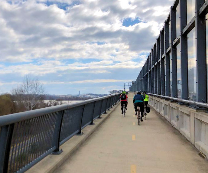 WEF staff rode their bikes 43 km (27 mi) to three water resource recovery facilities in the Washington, D.C.-area to show appreciation for operators. WEF photo/Rozek.