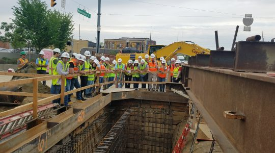 Rose-Hulman Institute of Technology civil engineering students toured several Citizens projects through PERL last spring. Photo courtesy of Citizens Energy Group.
